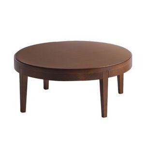 Toffee 881, Mesa de centro de madera de haya con tapa redonda