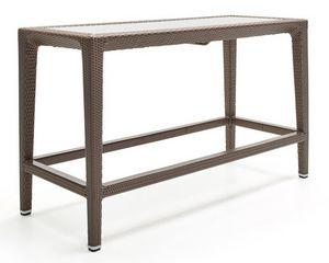 Altea mesa, Mesa alta en fibra tejida, marco de aluminio