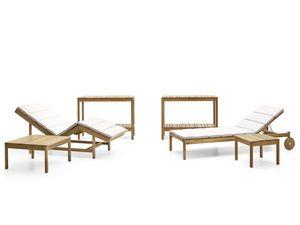 Barcode mesa de café, Mesas de centro en madera de teca, para piscinas y spas