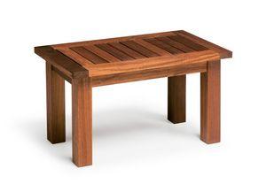 Sorrento/te, Mesa de centro de madera de iroko, para uso en exteriores