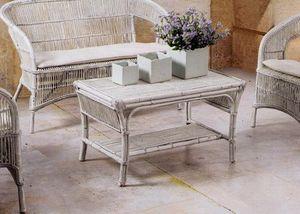 Tavolino Tais, Mesa étnica trenzada para uso al aire libre