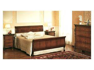 Art. 294 bedside table '800 Siciliano, Mesitas de noche de madera, con incrustaciones y tapa de mármol, para el dormitorio