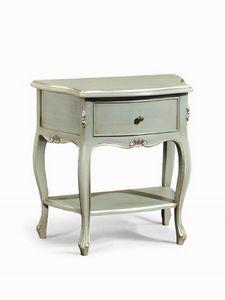 Art. 740, Mesa de noche con 1 estante y 1 cajón, en estilo clásico