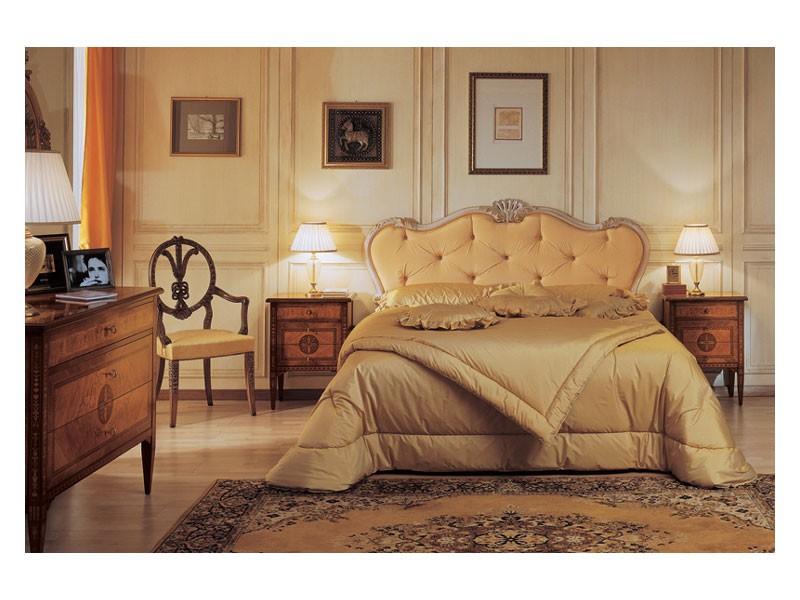 Art. 910 bedside table '700 Italiano Maggiolini, Tablas clásicas de estilo de noche, con incrustaciones, para Hoteles