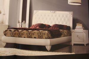 Art. IR094, Lacado blanco mesita de noche, para el dormitorio en estilo clásico