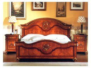 DUCALE DUCCO / Bedside table, Mesita de noche de madera de fresno rebabas, de estilo clásico