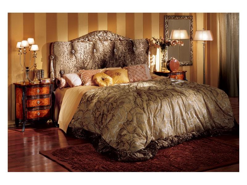 Florence bedside table 708, Mesa de noche para el dormitorio de Inlayed