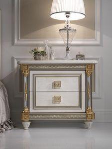 Liberty mesita de noche, Mesilla de noche de lujo en madera, con un estilo clásico, hoteles y salas de prestigio
