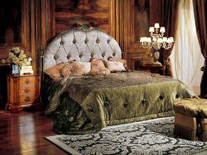 Paradise bedside table 706 C, Mesita de noche clásico de lujo en madera