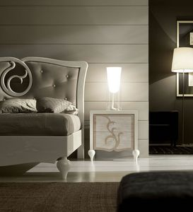 New Age Art. NA012, Elegante mesita de noche de madera