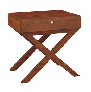 Norman mesa de noche, Mesitas de noche de madera para habitaciones de hotel