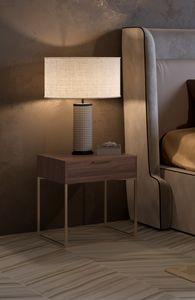 Nox mesita de noche, Mesita de noche con diseño minimalista.