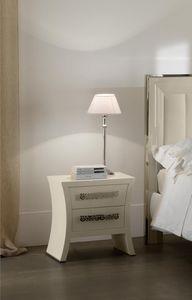 Richard mesilla de noche, Junto a la cama de madera curvada, galvanoplastia acabado de baño
