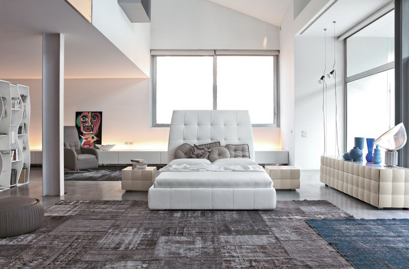 VENICE NOTTE bedside table, Mesita de noche en laminados recubiertos con PVC, para la zona de dormitorio