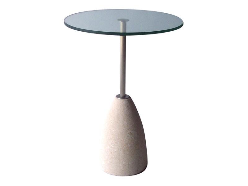 Element 2, Mesa redonda de piedra y vidrio, para bares y pubs