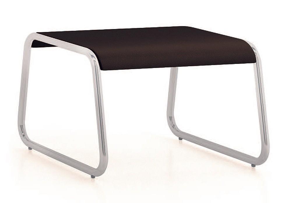 UF 184 - TABLE, Bajo la mesa con base de metal trineo, para salas de espera