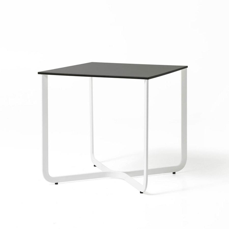 XS, Pequeña mesa de tubo de metal, para el hotel y consultorio médico