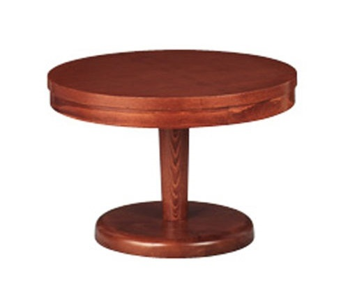 608, Ronda mesa baja, en madera de haya, para la sala de estar