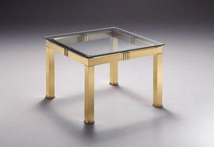 AMADEUS 3067, Mesa de centro cuadrada, con tapa de cristal, para salas de estar