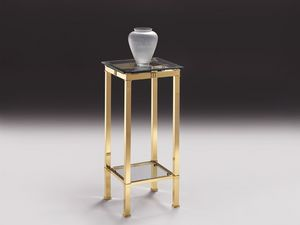 AMADEUS 3094, Mesa alta de la sala de estar, en bronce y cristal