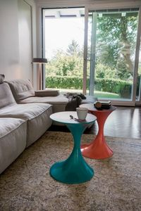 ANDORRA, Mesas de centro modernas, con tapa de madera o vidrio, para la sala