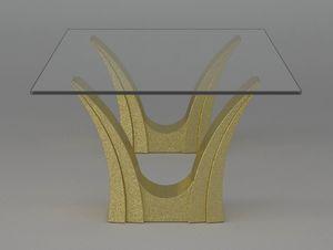 Apollo, Mesa de centro con base de piedra doble