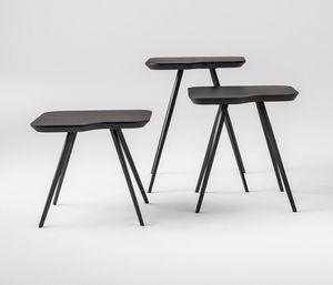 ART. 00102 AKY SMALL-MET, Mesa de centro de diseño con patas de metal y tapa de ceniza