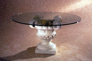 Atunis, Mesa de centro de estilo clásico, base de piedra