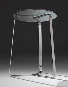 Basket, Mesa de centro en acero y vidrio, de elegantes salas de estar