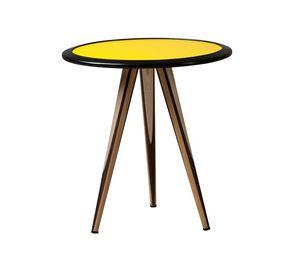 Carambola 5607, Mesa de centro con tapa redonda de colores