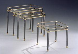 CARTESIO 274, Tablas de bronce fijados, acabados de pan de oro, para la sala