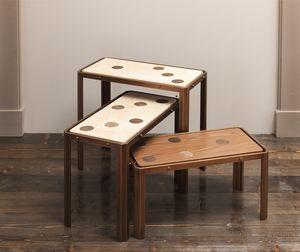 DOMINO HF2076CT, Mesas de madera y latón
