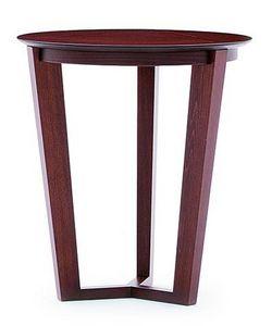 Flen 901 - 902, Mesa de centro redonda, marco de madera maciza de haya, haya o tapa de mármol