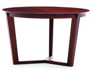 Flen 903 - 904, Mesa de centro redonda, marco de madera maciza de haya, haya o tapa de m�rmol