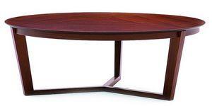 Flen 905 - 906, Mesa de centro redonda, marco de madera maciza de haya, haya o tapa de mármol
