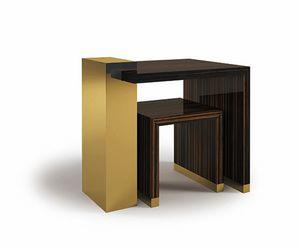 Hopper, Mesas pequeñas en ébano y latón