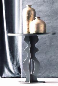 Jasper Art. 163, Mesita de hierro con tapa espejada ahumada