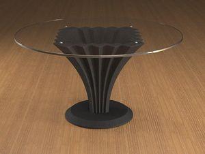 Liko, Mesita con tapa de cristal redonda