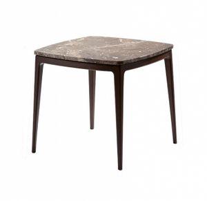 Mesa de centro Indigo, Mesa de centro cuadrada con tapa de mármol