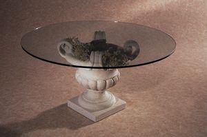 Palladio, Mesita con base de piedra en forma de jarrón.