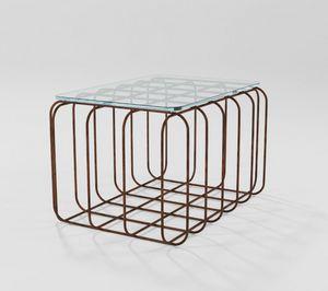Prisma, Mesa de centro rectangular con base de hierro