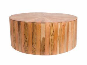 Remix 0499, Mesa redonda realizada en varios tipos de madera.