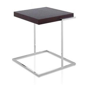 Servoquadro, Mesa de café con tapa cuadrada en madera, base metálica