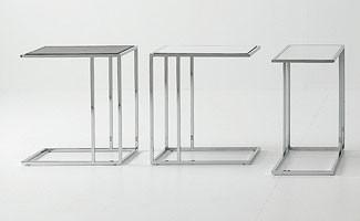 Small tables metal-glass, Mesa de café, en acero y vidrio, para el área de conversación