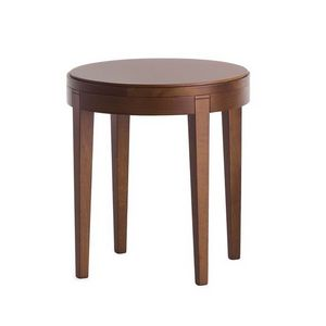 Toffee 880, Mesa de centro en madera de haya con tapa redonda