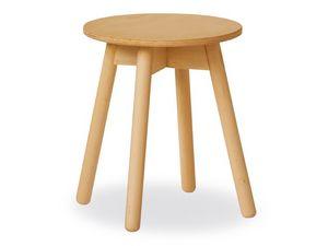 Tokyo Mesa Baja, Simple mesa en madera de haya con la tapa de madera contrachapada