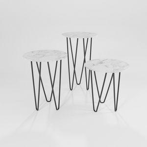 Trittico, Mesas de hierro con tapa redonda