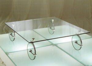 Vertigo, Mesa de centro original, inglass y latón cromado
