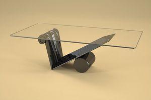 Zefiro, Mesa de centro de estilo moderno con tapa de cristal