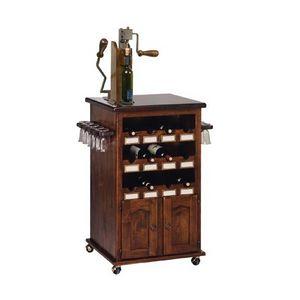 Art. 345, Botellero y taza muebles de titulares, con ruedas, para bar de vinos